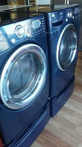 Best Price On Front Load Washer And Dryer Lg Tromm Navy Blue Front Load Washer And Dryer Set With Pedestals
