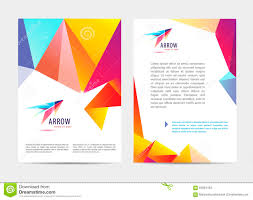 Business Letterhead Templates With Logo Vector Document Letter Or Logo Style Cover Brochure And Letterhead