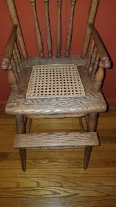 antique oak pressed back childs high chair furniture in longmeadow ma offerup