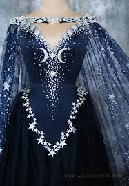 wiccan wedding. Nightgodess Gown Fantasy Wiccan Wedding Dress by Alice Corsets on