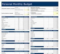 Personal Financial Budget Sheet Budget And Personal Finance Rome Fontanacountryinn Com