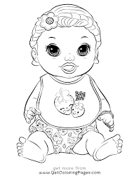 Small Picture Baby Alive Coloring Pages GetColoringPagescom