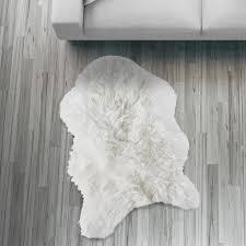 Schaffell Läufer Teppich Weiß 55x80cm Sofa Stuhl Ma Real