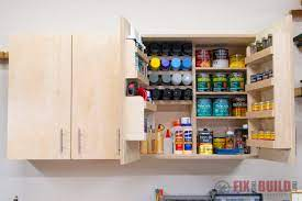 diy wall cabinets with 5 storage