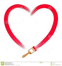 Coeur De Rouge De Dessin De Brosse Illustration De Vecteur Image