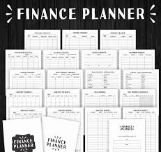 financial planner template monthly bill planner template with financial planner finance planner