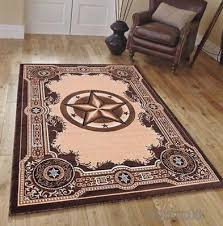 texas star western lodge rustic brown area rug quick