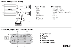 pyle plmrkt2a marine and waterproof amplifier speaker kits wiring and controls diagram