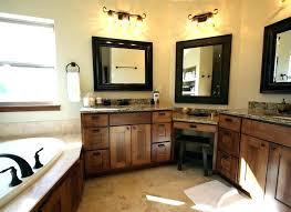 bathroom vanities with makeup table single sink