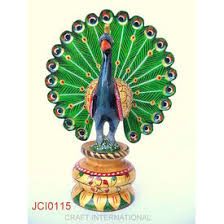 Small Picture Home Decor Handicrafts Peacock Painted 6 inches Online
