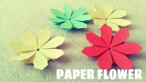 Paper Folded Flower Paper Flower Tutorial Origami Easy
