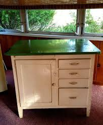 Old Hoosier Porcelain Enamel Top Baker's Table Wood Apt Kitchen ...