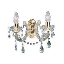 marie therese classic twin wall light in polished brass finish 699 2