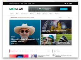 Newspaper Website Template Free Download 29 Free News Website Templates That Follows Leading News