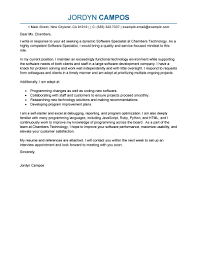 Computer Support Specialist Cover Letter Samples