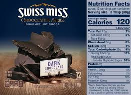 the daily value for added sugar on the updated nutrition facts label indicates that one serving of swiss miss chocolatier series gourmet hot cocoa conns