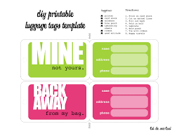 Bag Tag Template Luggage tags template I was able to print them and cut them down a 1