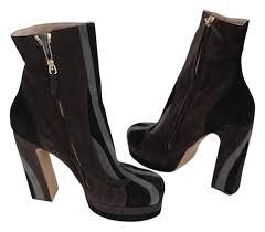 Designer Black Booties Rochas Black Designer Brown Suede Ankle Winter Boots Booties Size Us 10 Regular M B