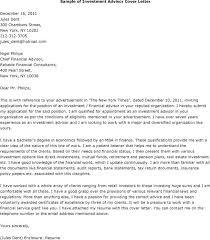 Cover Letter Investment Management Secretarial Position Cover Letter