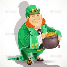 fat leprechaun guards the pot of gold by azuzl   graphicriverfat leprechaun guards the pot of gold   miscellaneous seasons holidays