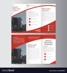 Templates For Brochure Red Trifold Leaflet Brochure Flyer Templates Set