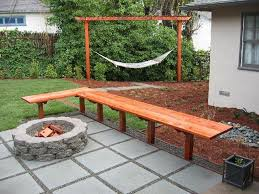 patio ideas with fire pit on a budget. Outdoor: Concrete Deck With Stone Fire Pit For Inexpensive Small Backyard Patio Ideas On A Budget G