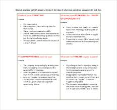 8 Employee Swot Analysis Examples Pdf Word Examples