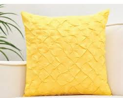 Image Living Room Canary Yellow Throw Pillow Cover Pinch Pleat Textured Pillow Etsy Yellow Throw Pillow Etsy