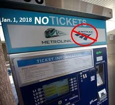 Metrolink Ticket Vending Machine Impressive Metrolink Ticket Vending Machines To Stop Selling Amtrak Tickets