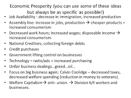 essay s introduce dbq directions the following question 4 economic prosperity