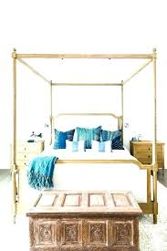 Farmhouse Canopy Bed Assembly White Wash Ca King Beds – mikumiku