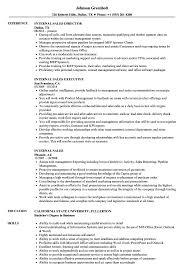 Internal Sales Resume Samples Velvet Jobs