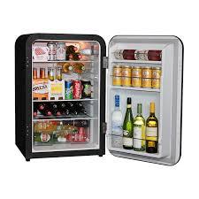 husky retro bar fridge in black stocked 2