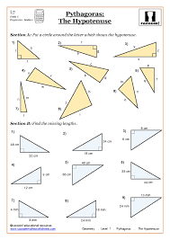 geometry pythagoras worksheets at ks4