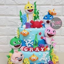 Baby Shark Birthday Cake Ideas Popsugar Family