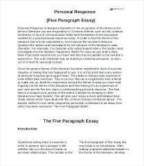 Essay Response Format Response Essay Format Essay Response Format