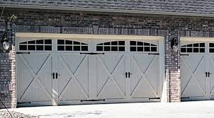 carriage house garage doors. Model 5300. Pre-Finished Steel Carriage House Collection Garage Doors