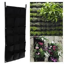 dettagli su 18 tasche verticale fiori da giardino verde pianta pentole appese muro vaso e fioriera mostra il titolo originale