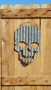 corrugated metal art up cycled old corrugated metal skull corrugated metal art