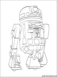 Kleurplaat Star Wars R2 D2 Gratis Kleurplaten