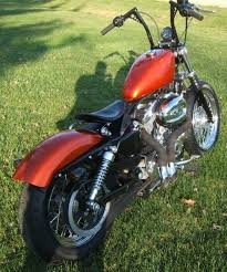 2005 harley 883 sportster bobber with dump exhaust by steve