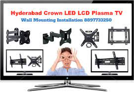 hyderabad crown lcd led tv wall mount