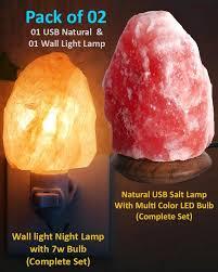wall light natural salt lamp usb natural salt lamp pack of