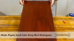 is poplar good for furniture. How To Make Poplar Look Like Deep Red Mahogany - Finishing 003 Is Good For Furniture