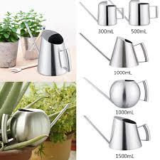 household stainless steel watering can kettle garden water bottle plant flower sprinkling pot 1000g cod