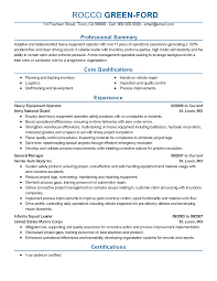 Certified Crane Operator Sample Resume Best Solutions Of Resume Example For Heavy Equipment Operator 6
