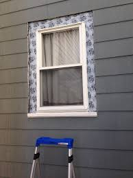exterior window trim install. look at that nicely flashed window! exterior window trim install