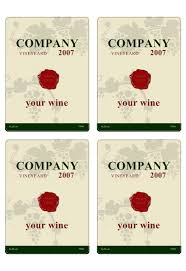 Free Printable Wine Labels Wine Label Template Personilize Your Own Wine Labels