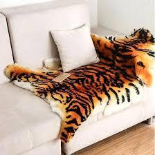tiger area rug large size fluffy area rug tiger fur imitation carpet living room bedroom carpet