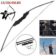 15/30/<b>40 LBS</b> Professional <b>Archery</b> Horse Traditional <b>Straight Bow</b> ...